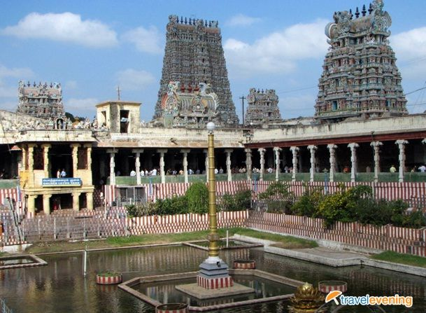 Meenakshi Amman Temple is a historic Hindu temple located in the southern bank of river Vaigai in the temple city of Madurai, Tamil Nadu, India.