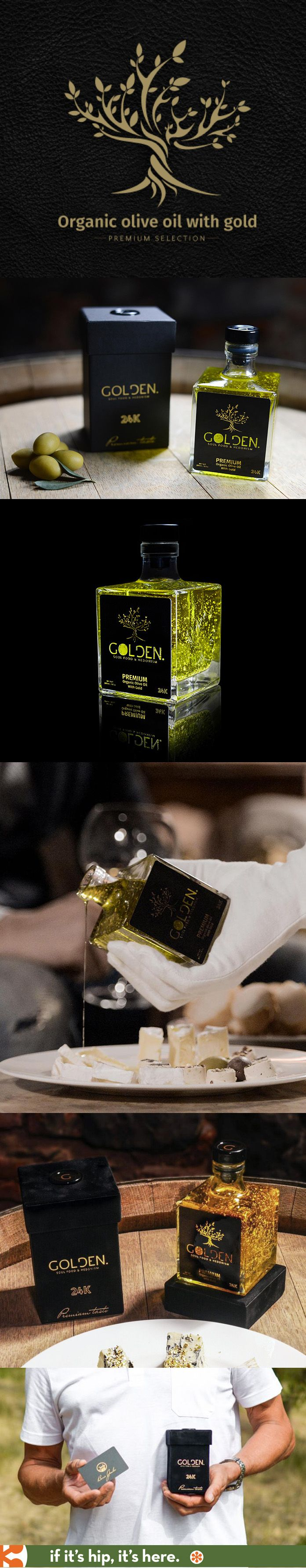 Organic olive oil with 24k gold flakes