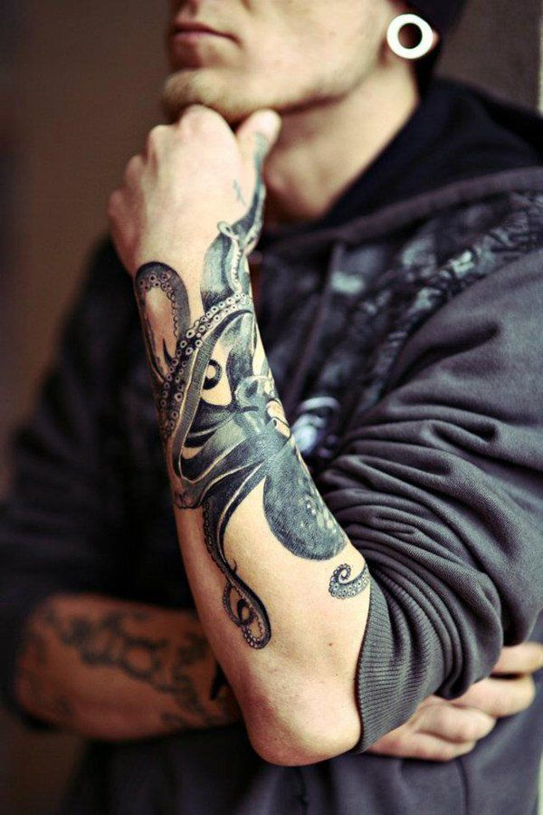 Forearm octopus tattoo - 55 Awesome Octopus Tattoo Designs  <3 !