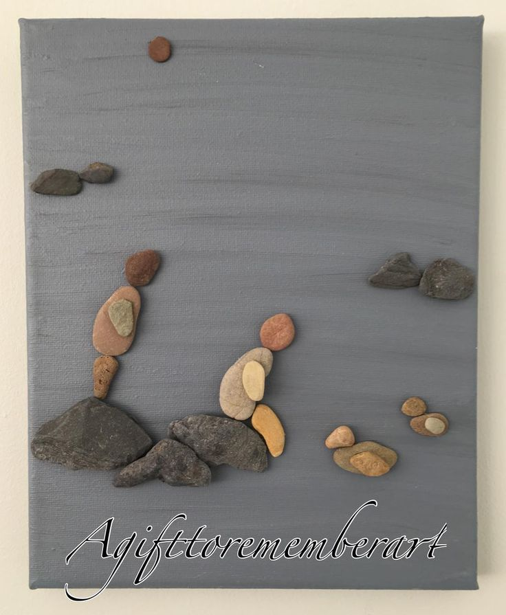 """Serenity"" #agifttorememberart #serenity #pebbleart #friends #river #water…"