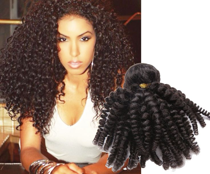 3Bundles 300g Natural Black Afro Brazilian Kniky Curly Hair Wefts New Stylish #WIGISS #HairExtension