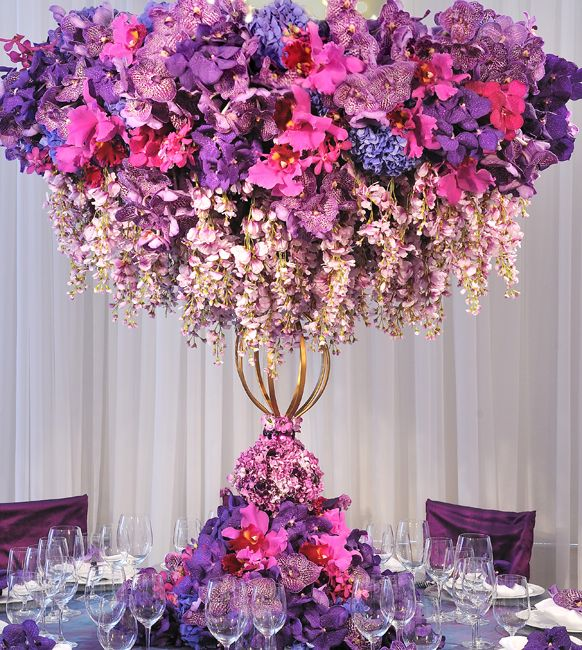 http://inspirations.prestonbailey.com/2013/03/11/tall-centerpieces-for-a-hot-pink-wedding/  EXQUISITE!!!! (makes me want to get married...lol) Pls visit me at www.zazzle.com/dollface766* and allow me to custom design your invitations etc., and even bachelorette t-shirts with your colors and your sayins  ♥  #It's your day, it's all about you girlfriend ♥