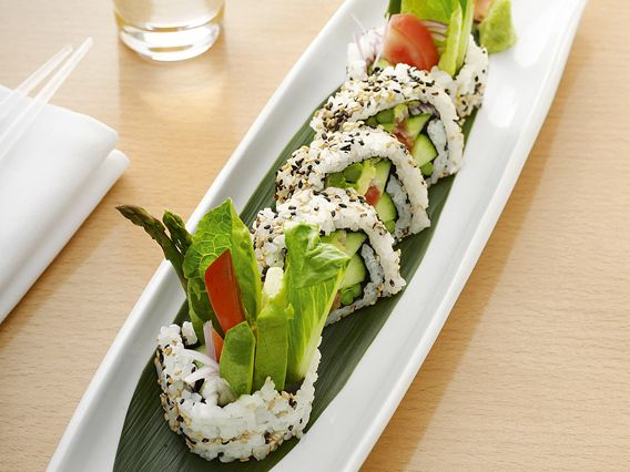 Vegetable Sushi recipe from Masaharu Morimoto via Food Network