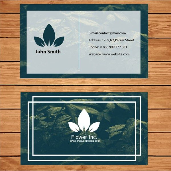 22 best business card template images on pinterest business card microsoft publisher botanist business card template reheart Image collections