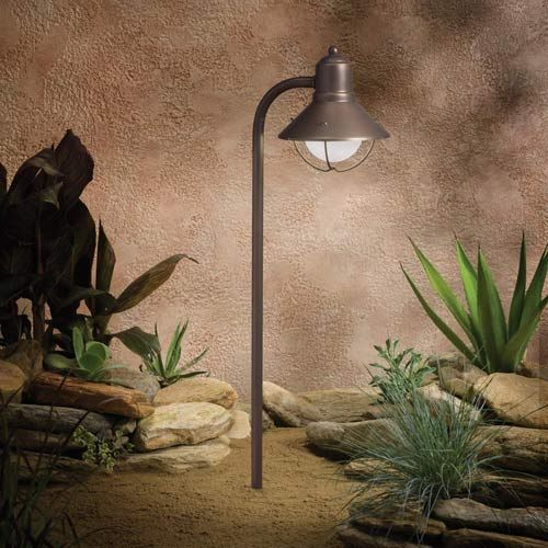 32 best landscape light fixtures images on pinterest exterior kichler seaside olde bronze 255 inch one light landscape path light mozeypictures Choice Image
