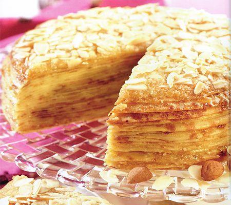 Almond Cake Recipes From Scratch | Pancake Cake Almond Cream Recipe