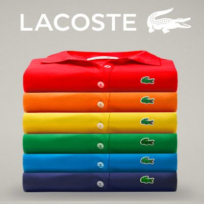 Descubra a gama de cores do famoso pólo L.12.12 da Lacoste.