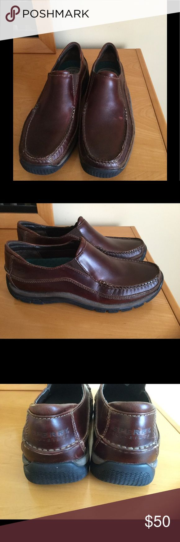 Sperry Top sider brown leather boat shoes In very good pre owned condition , only tiny scuff on one of the shoe surface ( can be fixed with shoe cream / wax ) 95% life left on them .❌Price firm unless is bundled ❌ Sperry Top-Sider Shoes Boat Shoes