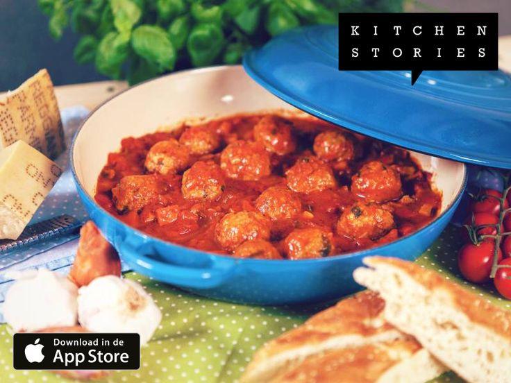 Ik ben Gehaktballetjes in marinarasaus aan het koken met @1KitchenStories - http://getks.io/nl/2534