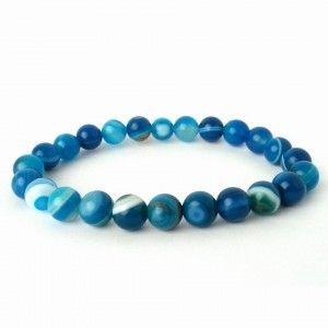 Náramok - Achát modrý