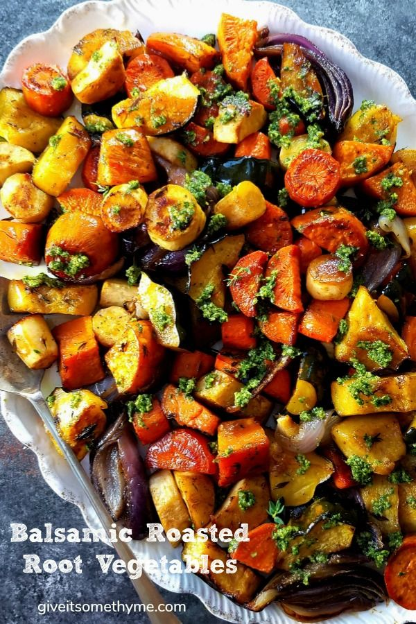 Balsamic Roasted Root Vegetables Recipe With Images Roasted