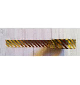 masking tape fines diagonales foil or fond dégradé gris - Simply Graphic