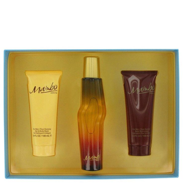 Mambo By Liz Claiborne Gift Set -- 3.4 Oz Cologne Spray + 3.4 Oz Body Wash + 3.4 Oz Body Moisturizer