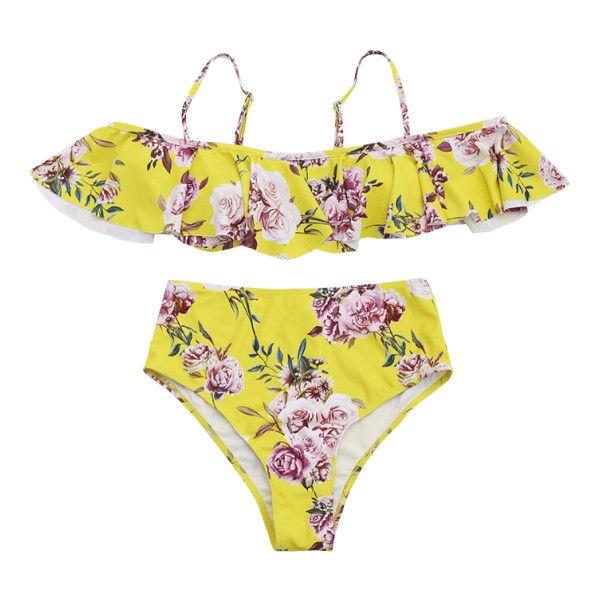floral high waisted bikini - photo #11