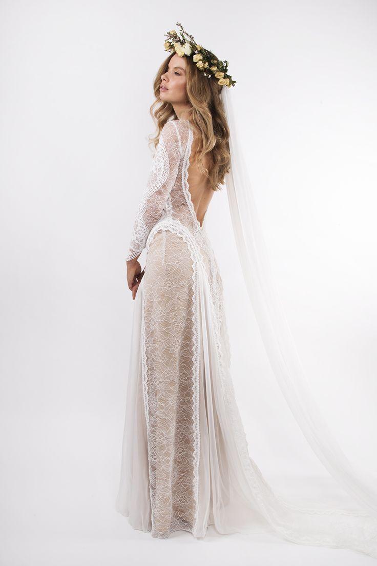 Inca Gown Low Back Wedding Dress Grace Loves Lace Cheap Wedding Dress Boho Wedding Dresses Hippie Cheap Wedding Dress