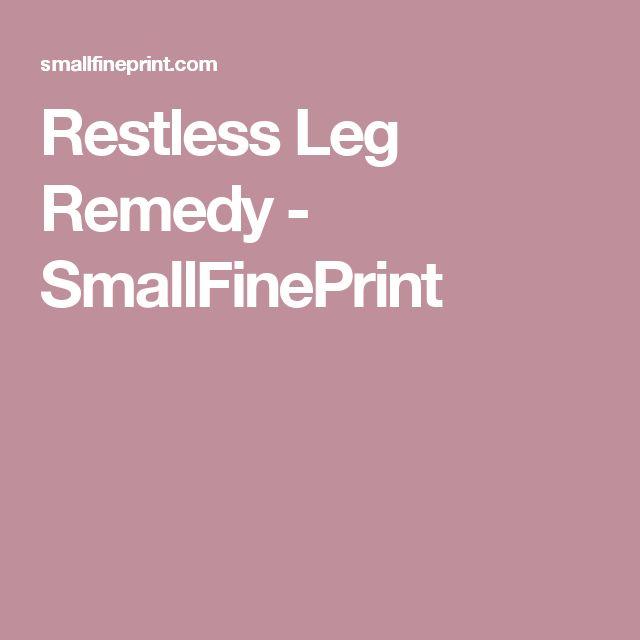 Restless Leg Remedy - SmallFinePrint