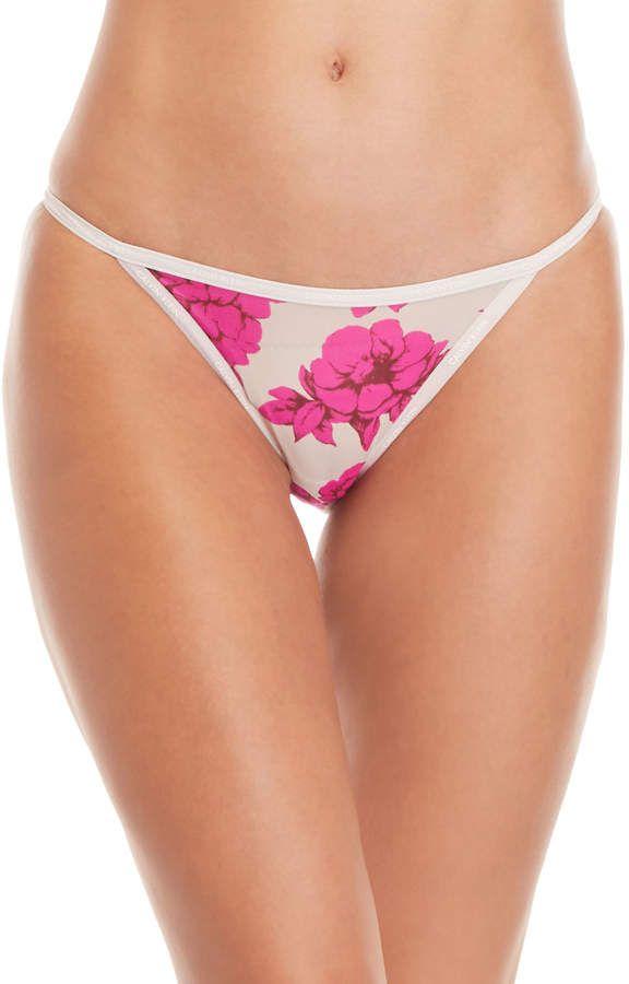 dfc0f5b762b Calvin Klein Floral Sheer Bikini Panty