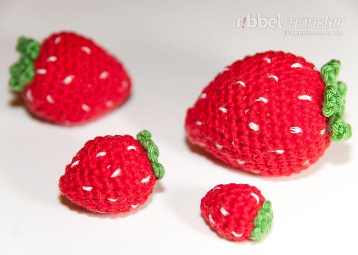 Amigurumi Erdbeeren häkeln - Anleitung - Häkelanleitung