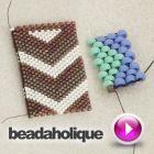 #Tutorial - Videos: How to Flat Odd-Count Peyote Stitch | Beadaholique #beadweaving #chevron