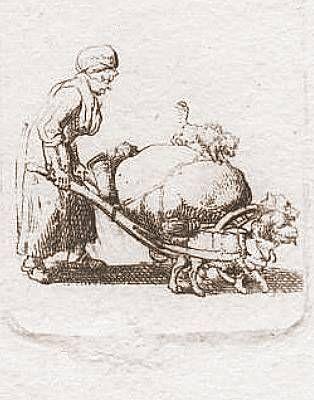 Flucht der Hugenotten - Randeinfall<br />Zeichnung 1799<br />Daniel Chodowiecki