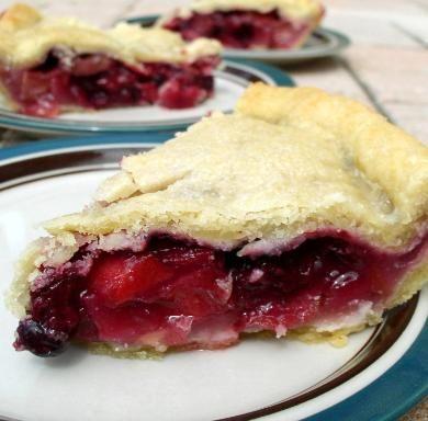 Bumbleberry Pie: strawberries,blueberries, raspberries, apples & rhubarb
