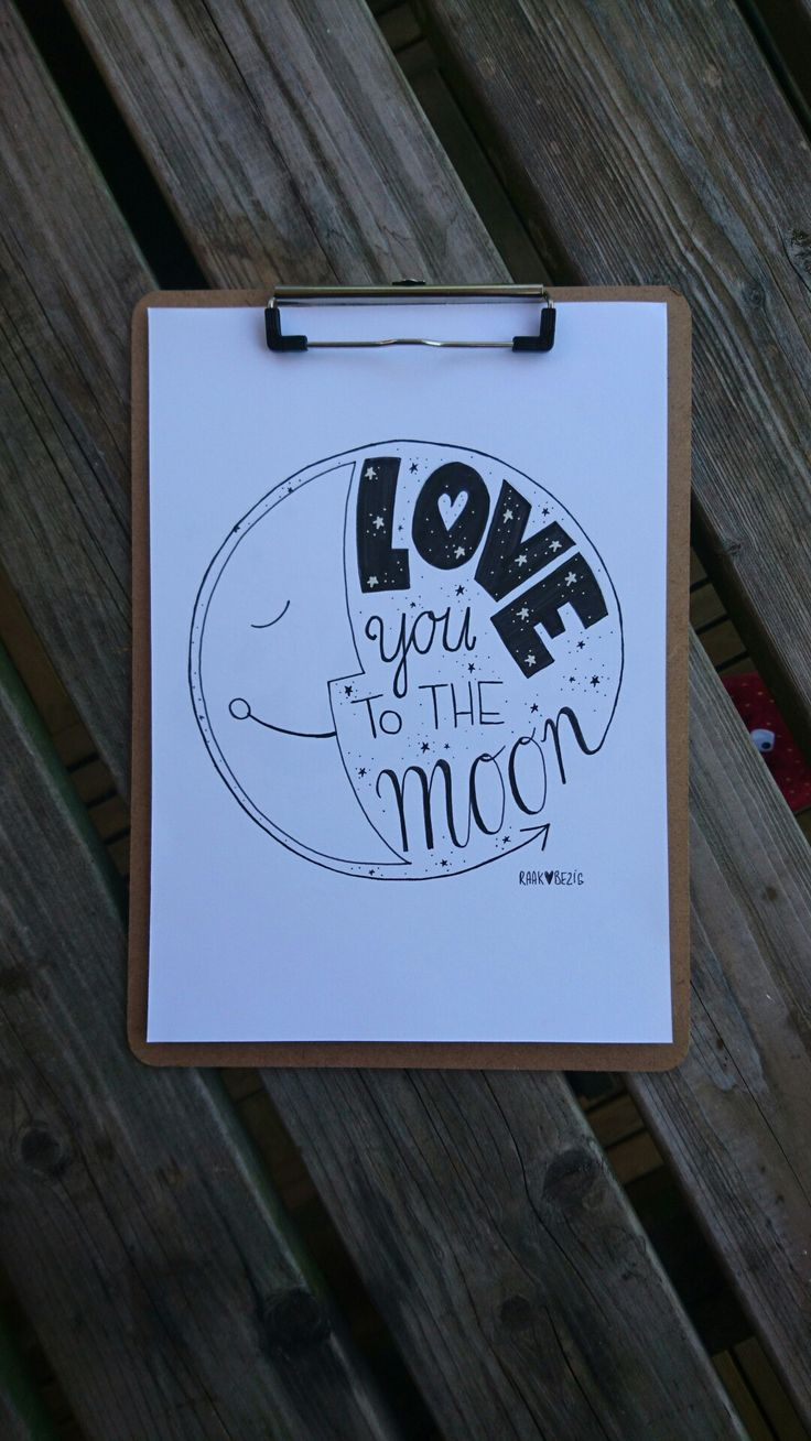 Habdletterinf: love you to the moon and back