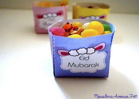 Spécial Eid : Boites Bonbons à imprimer gratuitement !   Mouslima Avenue FREE PRINTABLE EID AL AHDAA