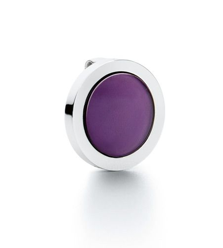 Ole Lynggaard Copenhagen Sweet Spot charm Purple Amethyst Disc in 18ct white gold - Kennedy Jewellers