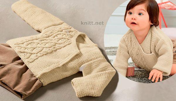 Жакет с аранами для малыша