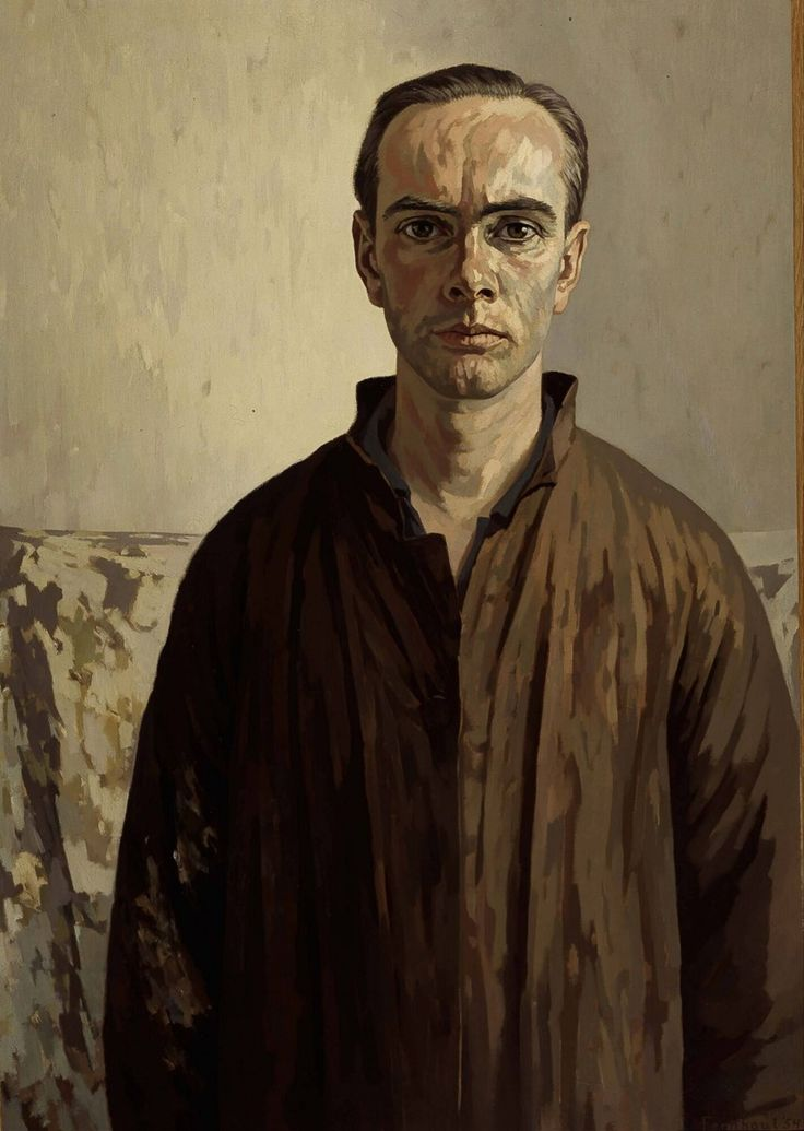 Edgar Fernhout (Dutch, 1912-1974), Self-portrait, 1953-54. Oil on canvas, 100.5 x 70 cm. Museum Boijmans van Beuningen, Rotterdam.