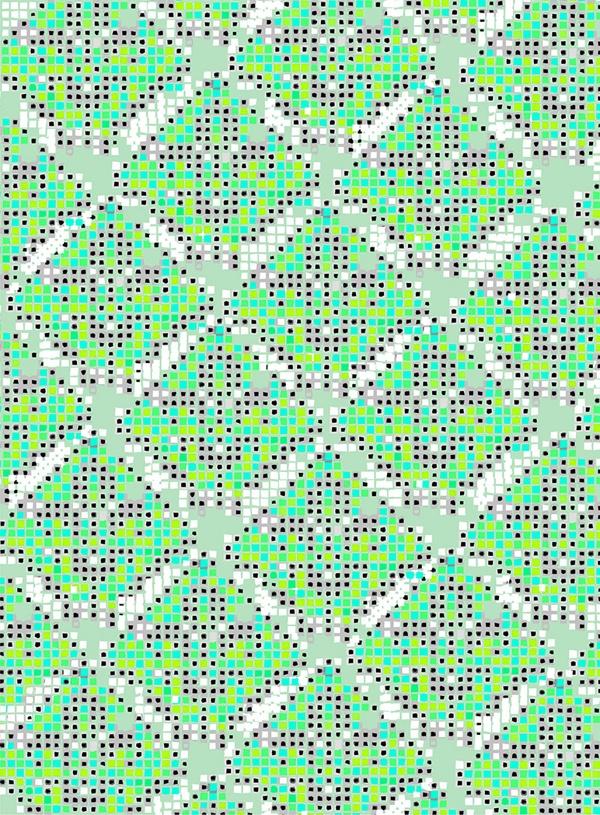 azulejos textiles! by jimena palacios, via Behance