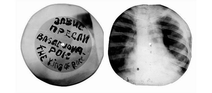 Bone Records - rom the 1930s-60s, vinyl was too expensive in the Soviet Union, so bootleggers began using X-ray plates to print records. The useless X-rays could be purchased from hospitals for very little, and were thick enough to retain an impression that could be played on a phonograph.