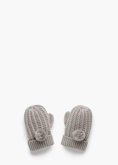 Dzianinowe rękawiczki ze ściągacza | MANGO KIDS