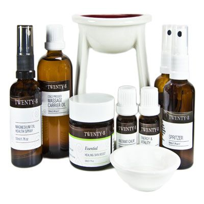 Aromatherapy First Aid Kit- This is the perfect home first aid kit for the whole family.  http://www.twenty8.com/online-store/essential-oils/aromatherapy-healing-kit