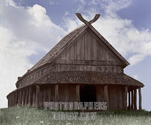Reconstruction of the Viking barracks at the fortress of Trelleborg It is considered to have been built by Harold Bluetooth Country of Origin : Denmark Culture : Viking Date / Period : Dendrochronology 980 981 AD Place of Origin : Slagelse