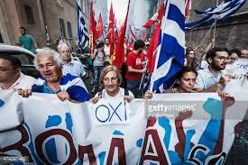 Greeks protest European Union And The International Monetary Fund Economic Reforms