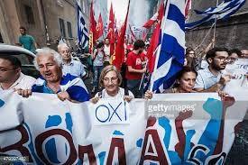 Greeks protest European Union And The International Monetary Fund Economic Reforms