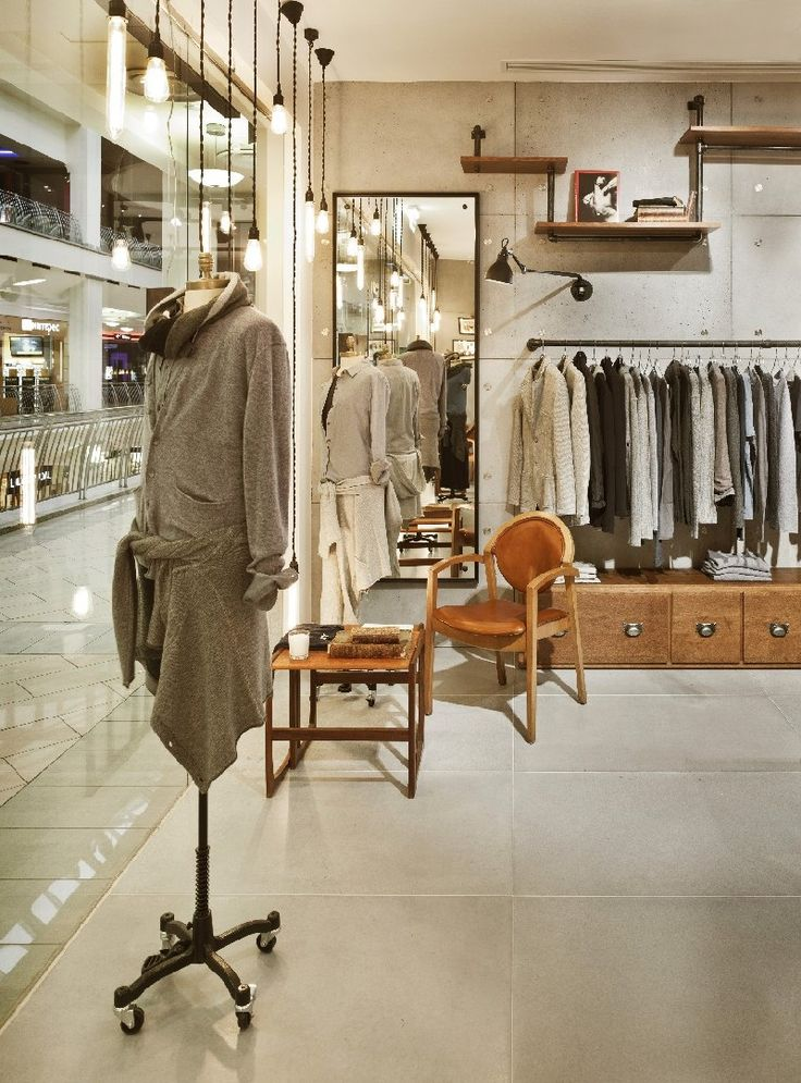 Classic Industrial Allure Defines New Vogue Clothes Retailer in Moscow