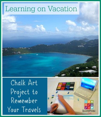 Learning on Vacation Chalk art project to remember your travels @Education Possible