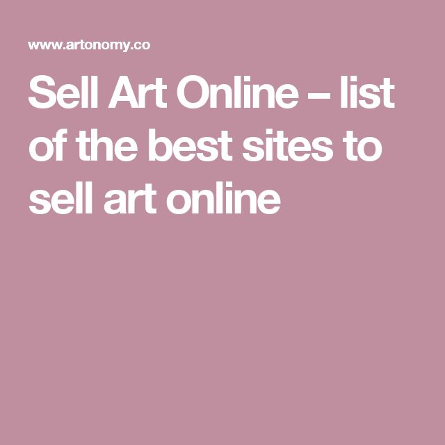 Sell Art Online – list of the best sites to sell art online