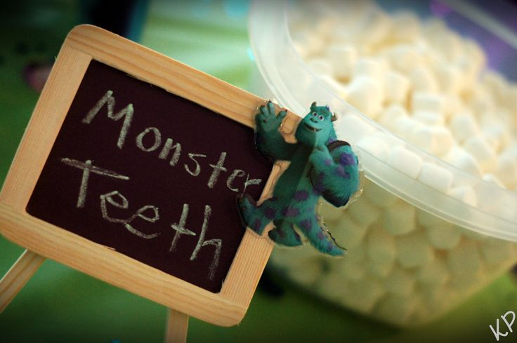 Monster Teeth Marshmallows for a Monsters Inc. Party