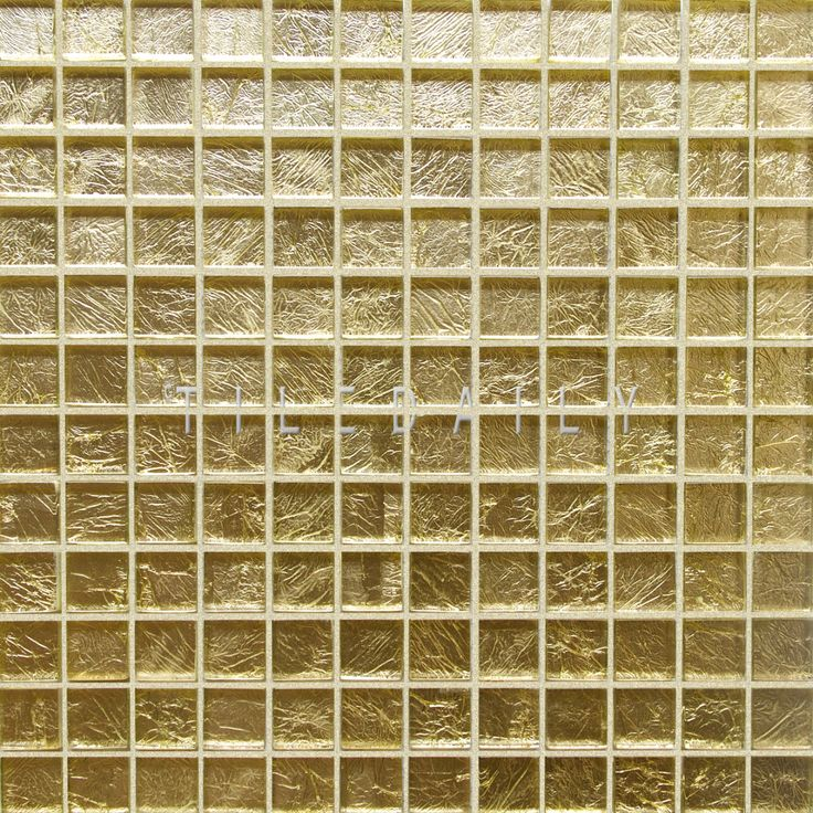 Gm0068 1x1 Gold Gl Mosaic Tile