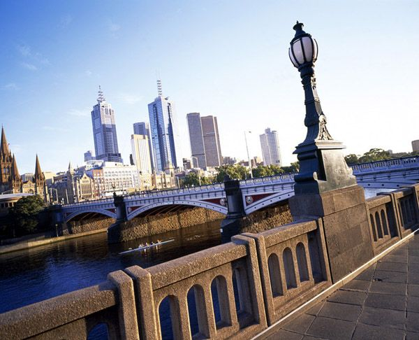Princes Bridge is a historic bridge built over the Yarra River in Central Melbourne.   It is built on the site of one of the oldest river crossings in Australia, being the third bridge on the same location. The first was built in 1844 and the current one in 1888, making it 120 years old.