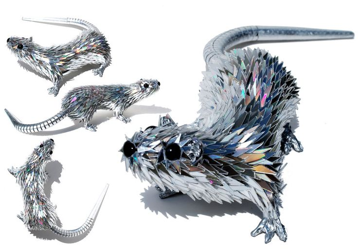 Rat - Simply Creative: Shattered CD Sculptures by Sean Avery