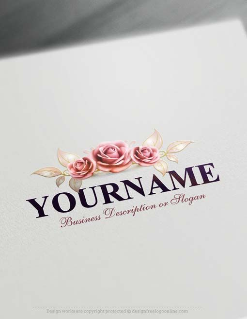 Create a Logo Free - Free Logomaker - Beautiful Roses Logo Ready made Online logo template decorated with Beautiful Roses Logo design. Roses logos great for brandingBeauty, care, gift shop, Female fashion, cosmetics, fashion, Flower shop, spa, health etc. How to design free logo online? 1- Customize This logo with our free logo maker tool - Change you company name, slogan, colors
