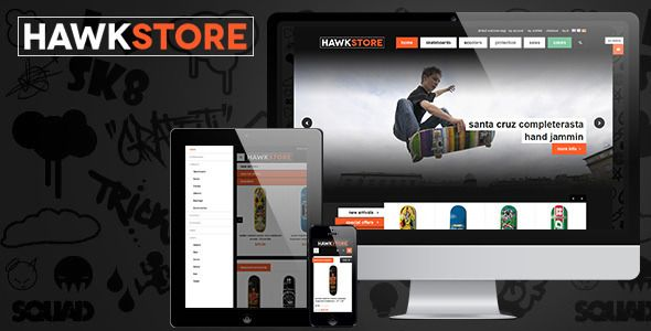 JM Hawkstore - Responsive theme for Skating shop - Fashion Magento