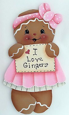 HP GINGERBREAD FRIDGE MAGNET i love gingers