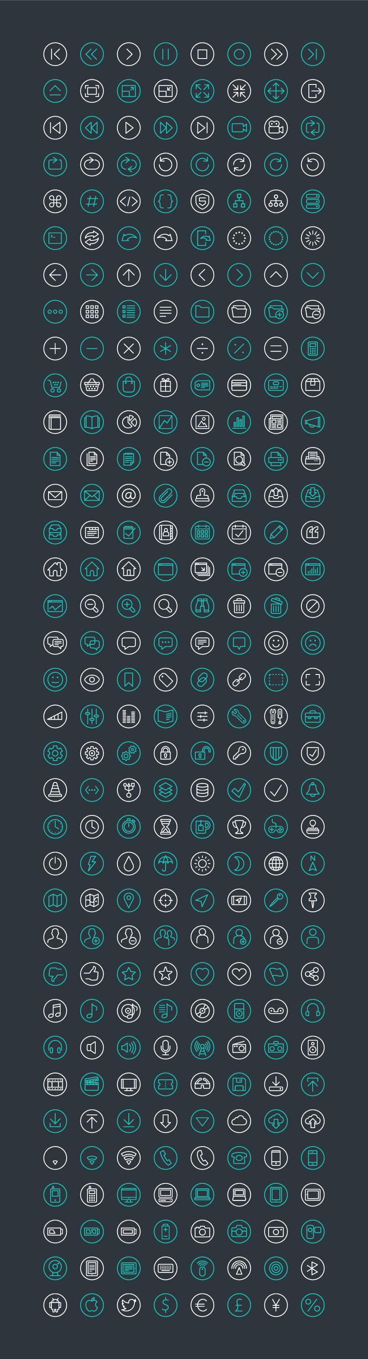 Fineline Icons by ikono.me (via Creattica)