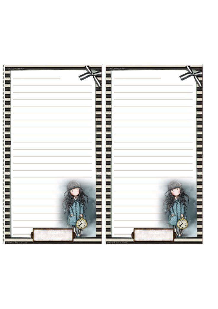 Ed ecco una pagina per agenda formato Personal a righe con immagini Gorjuss. clicca sull'immagine per vedere la dimensione originale (...