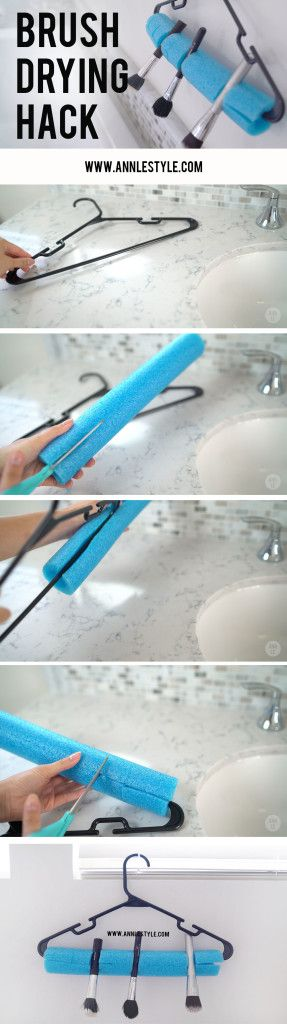 DIY Makeup Brush Drying Hack    www.annlestyle.com